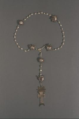 Silver & Copper Rosary Beads