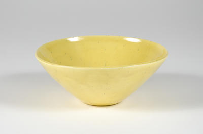 Bowl (yellow glaze)