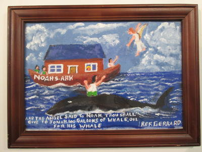 And the angel said to Noah thou shall give to Jonah 100 gallons of whale oil for his whale