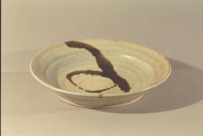 Dish with black decoration