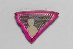 Pink Triangle Brooch