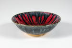 Bowl (with red and green glaze)