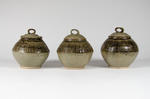 Set of three lidded jars